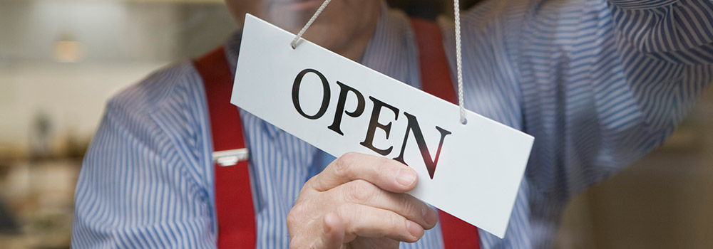 Business open sign image